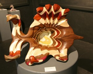 "Millie Molding Marvelously | Exotic Wood & Plexiglas | 12""x29""x21"" 