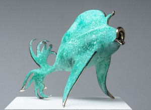 "Green Grouper Gleeking | Bronze| 18""x16""x14"" 
