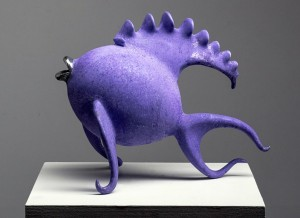 "Proud Purple Posing | Aluminum | 12""x16""x9"" | $4500"