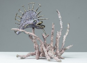 "Prickly Purple Panther | Bronze | 12""x10""x8"" 